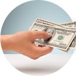 get cash in hand